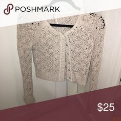 Free people crotchet cardigan Barely worn Free People Sweaters Cardigans