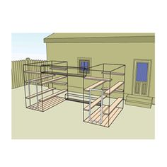 Home Away From Home Style 3 Outdoor Cat House Kit : Home of Habitat Haven, Cat Enclosure - Outdoor Cat Enclosures - Catios