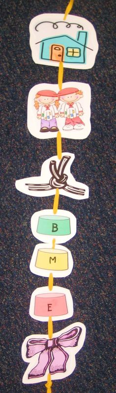 Retelling Rope. My first graders love this and really get it!