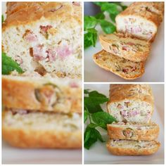 Cake olive jambon champignon Cake Aux Olives, Starters, Salads, Sandwiches, Menu, Healthy, Food, Snacks, Tomato Pie