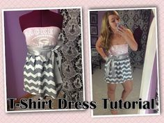 Tutorial on how to attach a T-Shirt to a dress