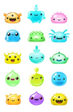 Blob Monsters iOS game on Behance