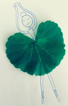 Leaf art geranium ballerina