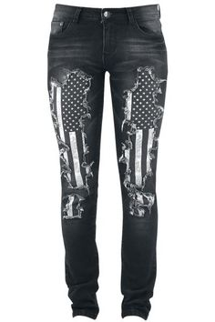 Megan Flag Pants by Rock Rebel by EMP. Super super cute love these!