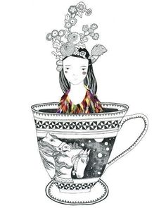 girl and teacup #tea