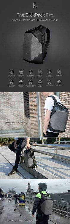 This backpack – the ClickPack Pro, made by Korin Design, is a backpack fit to give a peace of mind and a home for everything you need to take along.     Its triple anti-theft protection allows you to enjoy the scenery of wherever you may be, without having to worry about whether you'll lose …
