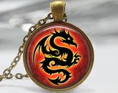 mythical dragon necklace $10.75 www.etsy.com/shop/lovelyeffects #dragonnecklace #dragons #pendants #jewelry #necklaces