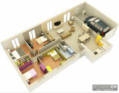 Casa moderna c/ 4 quartos
