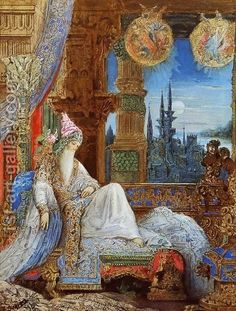 The Dream Haunting the Mogul  by Gustave Moreau