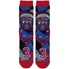 Allen Iverson Philadelphia 76ers Stance Mosaic Crew Socks - Blue/Red - $19.99