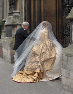 gold wedding gown, beautiful