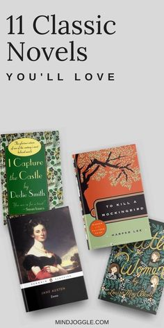 Want to read more classic novels but have trouble finding great ones? These classics will keep you reading and hold your interest. Never be bored by classics you don't want to read--pick ones that you can't put down. Literary Fiction, Historical Fiction, I Capture The Castle, Books To Read, My Books, Orphan Girl, Four Sisters, Harper Lee, Anne Of Green