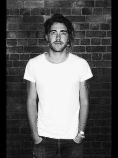 simple hair beard jeans white shirt tumblr