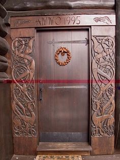 Beautiful door from Norsk Wood Works, LTD. that scroll work.