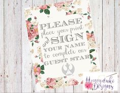 Harry Potter and Star Wars Wedding Guestbook Sign Guest Star Signage by HoneydukeDesigns on Etsy https://www.etsy.com/listing/272721354/harry-potter-and-star-wars-wedding