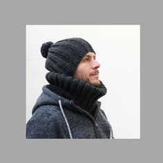 Make a chunky hat perfect for the fall weather with this free hat knitting pattern. If you are a beginner knitter this pattern is perfect for you. Free Chunky Knitting Patterns, Mens Hat Knitting Pattern, Beanie Pattern, Free Knitting, Lion Brand Yarn, Knit Beanie, Pattern Making, Hats For Men, Knitting Projects