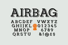 Airbag typeface by It's me simon on @creativemarket