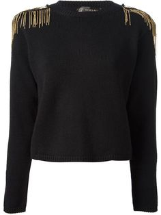 Designer Knitwear & Sweaters For Women Versace Chain, Versace Versace, Diy Clothing, Preppy Style, Fashion Branding, Sweater Jacket, Passion For Fashion, Ideias Fashion, Knitwear