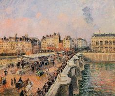 The Pont Neuf, Afternoon, 1901 - Camille Pissarro - WikiArt.org