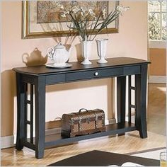 Steve Silver Company Cassidy Black Sofa Table - HA250S