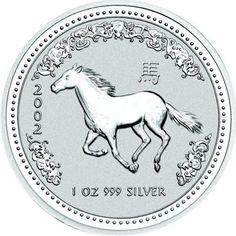 2002 series 1 - Australian Silver Lunar Horse Bullion Coin