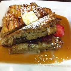 All organic strawberry French toast mmmm