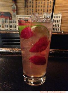 Strawberry Limemade that rivals that of Sonic!   Ingredients:  Sugar Limes Frozen Strawberries Sprite or water  Directions:  To make simple syrup: Dissolve 1 cup sugar in 1 cup water in a saucepan over low heat; let cool. Instead of this, you could use Sprite.   Combine with 1 cup lime juice, 2 cups water or Sprite, some frozen chopped strawberries and ice.