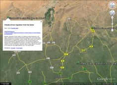 "MyReadingMapped has been doing some great work lately.  A few days ago we showed you their collection of plane wrecks in Google Earth and not long before that was a great collection of sunken ships.  Now they're back with some interesting maps related to climate change, including one titled ""The rise, fall, and migration of civilization due to climate change"". Climate Change, Civilization, Plane, Maps, Earth, Google, Projects, Blog, Collection"