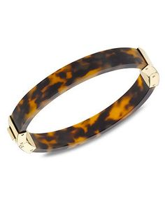 Michael Kors Gold-Tone and Tortoise Hinge Bangle - Michael Kors - Jewelry & Watches - Macy's