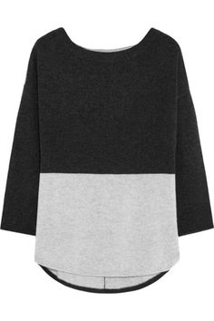 e1cb30073f Charcoal and light-gray cashmere Slips on 100% cashmere Dry clean