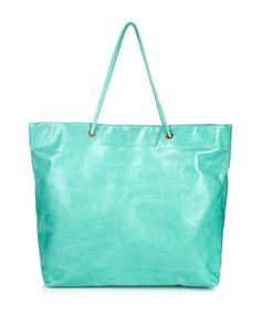 SALE ALERT:  55% OFF Stunning turquoise leather tote by Halaby on secretsales.com perfect for summer @secretsales.com