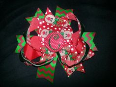 Christmas Stacked Bow- $12.00 Can be done in Any Colors - Can be made to Match ANY outfit! Just send me a Picture! Contact me on My Business Page to order or with Questions - www.facebook.com/josiesbows