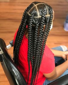 Big Box Braids Hairstyles, Braids Hairstyles Pictures, Natural Braided Hairstyles, Braided Hairstyles For Black Women, Dope Hairstyles, African Braids Hairstyles, Hair Pictures, Weave Hairstyles, Hairstyle Braid