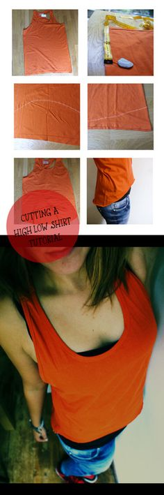 Cutting a High-Low shirt tutorial #DIY #Tshirt #Cutting Not just for dance