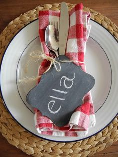 Chalkboard Tags (Set of 6). $15.00, via Etsy. These might be our place card settings this Thanksgiving!