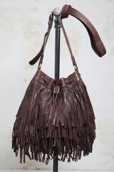 Streets Ahead Chocolate Fringe Bag