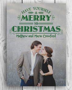 A Merry Little Christmas Card | DIY | Custom | Printable | Holiday Card