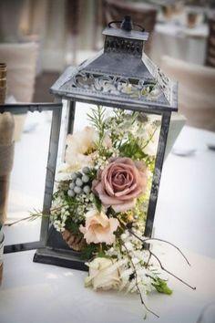 50 amazing lantern and flower in wedding centerpiece ideas 47
