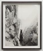 Robert Kinmont Plumb Bob   1973 black-and-white photograph