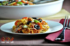 Supreme Pizza Cauliflower Casserole – Low Carb, Gluten Free via @PeaceLoveLoCarb