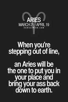 Aries will put you back in line