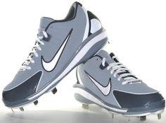 Mens Nike Air Huarache 2K4 Low Metal Baseball Cleats Size 9.5 Gray/White # Nike