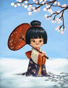 Little Geisha by Kei Acedera | 2D | CGSociety