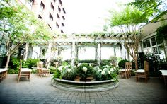 The Pavilion & Cloister Garden at the O'Henry Hotel in Greensboro
