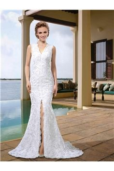 All Sizes Floor-Length Garden/Outdoor Natural Criss-Cross Straps Trumpet/Mermaid Spring Elegant & Luxurious Wedding Dress