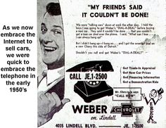 Check out this Weber Chevrolet Ad from the 1950s