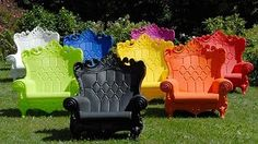 Fancy lawn chairs! A quick internet search and I couldn't find where these are actually sold... Sad.