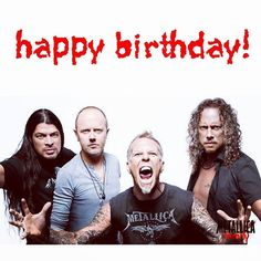"""Happy Birthday Metallica! #HappyBirthdayMetallica #34Years  #RobertTrujillo #LarsUlrich #JamesHetfield #KirkHammett #Metallica #MetallicaFamily #MFF"""