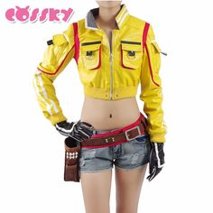 Buy online US $90.09  Final Fantasy 15 Cindy Aurum Cosplay Costume Woman Mechanic PU Party Sexy Dress Full Set Cosplay Costume Women Clothing CT98YU  . Search here: Jackets For Women.