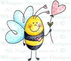 Bee in Love - Bugs - Rubber Stamps